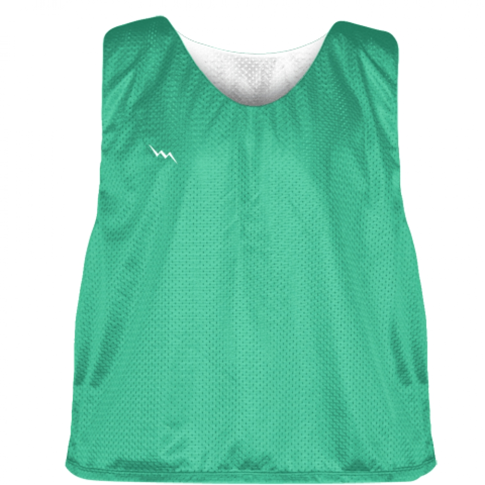 Teal+White+Reversible+Pinnies+-+Reversible+Lacrosse+Jerseys