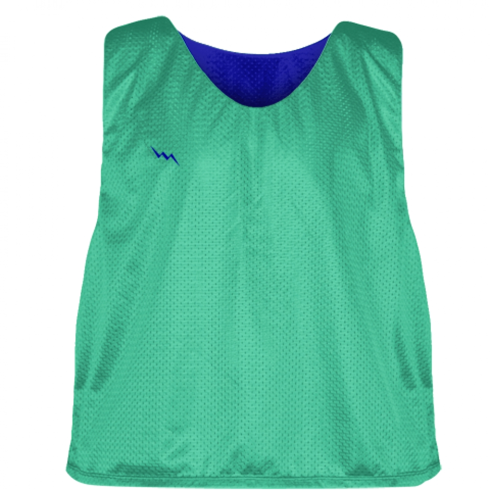 Teal+Royal+Blue+Reversible+Pinnies+-+Reversible+Lacrosse+Jerseys