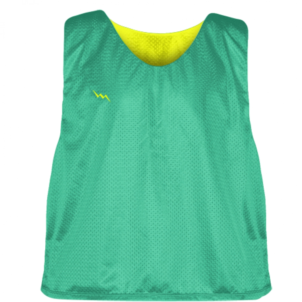 Teal+Yellow+Reversible+Pinnies+-+Reversible+Lacrosse+Jerseys