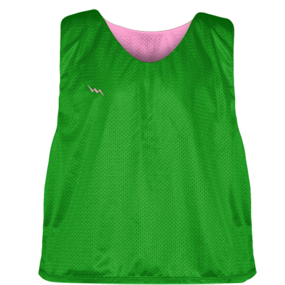 Kelly+Green+Pink+Reversible+Pinnies+-+Reversible+Lacrosse+Jerseys