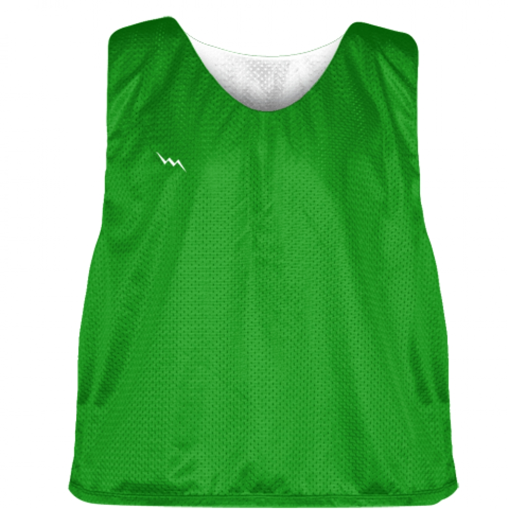 Kelly+Green+White+Reversible+Pinnies+-+Reversible+Lacrosse+Jerseys