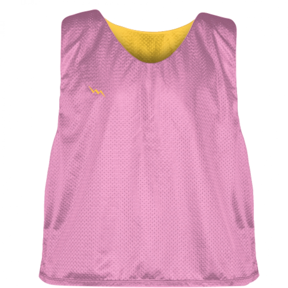 Pink+Athletic+Gold+Reversible+Pinnies+-+Reversible+Lacrosse+Jerseys