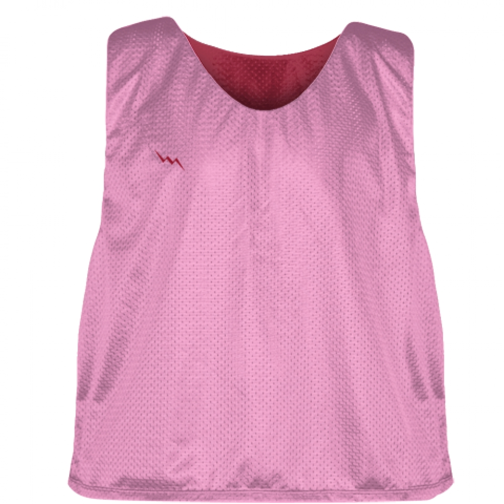 Pink+Cardinal+Red+Reversible+Pinnies+-+Reversible+Lacrosse+Jerseys