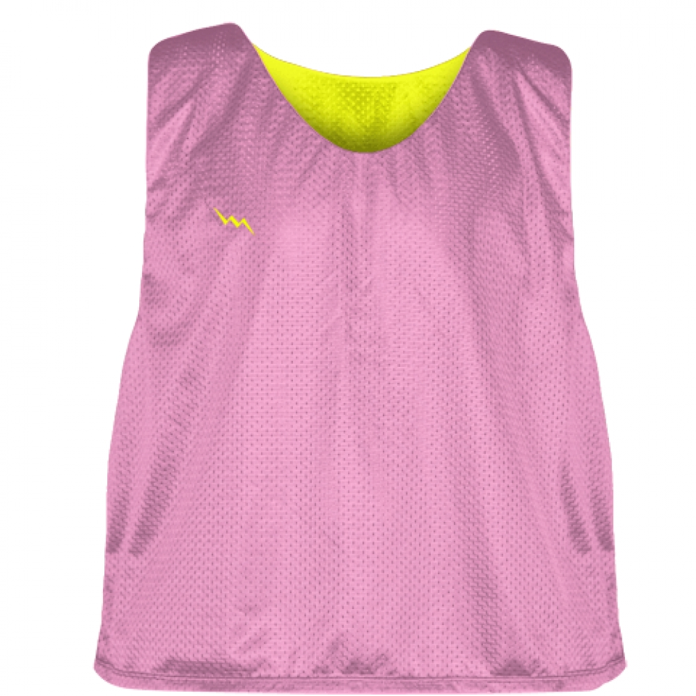 Pink+Yellow+Reversible+Pinnies+-+Reversible+Lacrosse+Jerseys