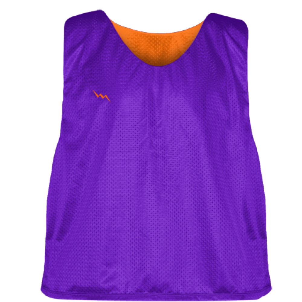 Purple+Orange+Reversible+Pinnies+-+Reversible+Lacrosse+Jerseys