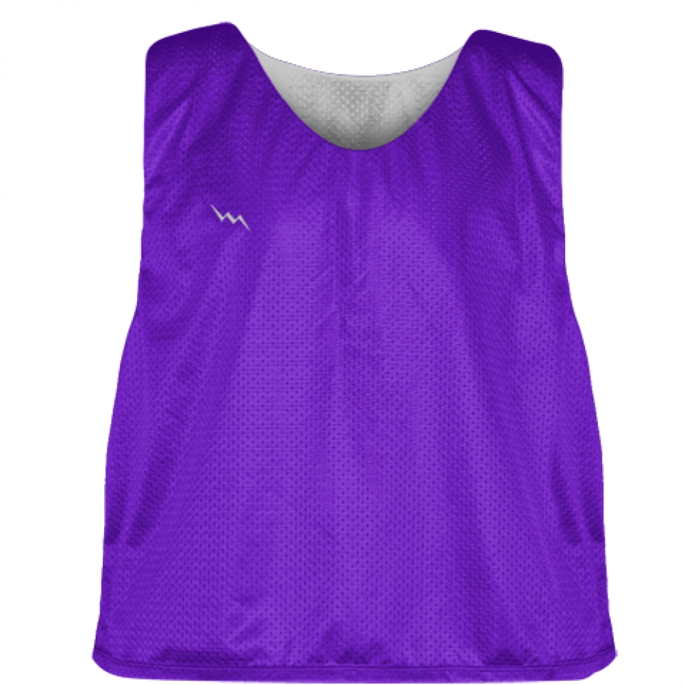 Purple+Silver+Reversible+Pinnies+-+Reversible+Lacrosse+Jerseys
