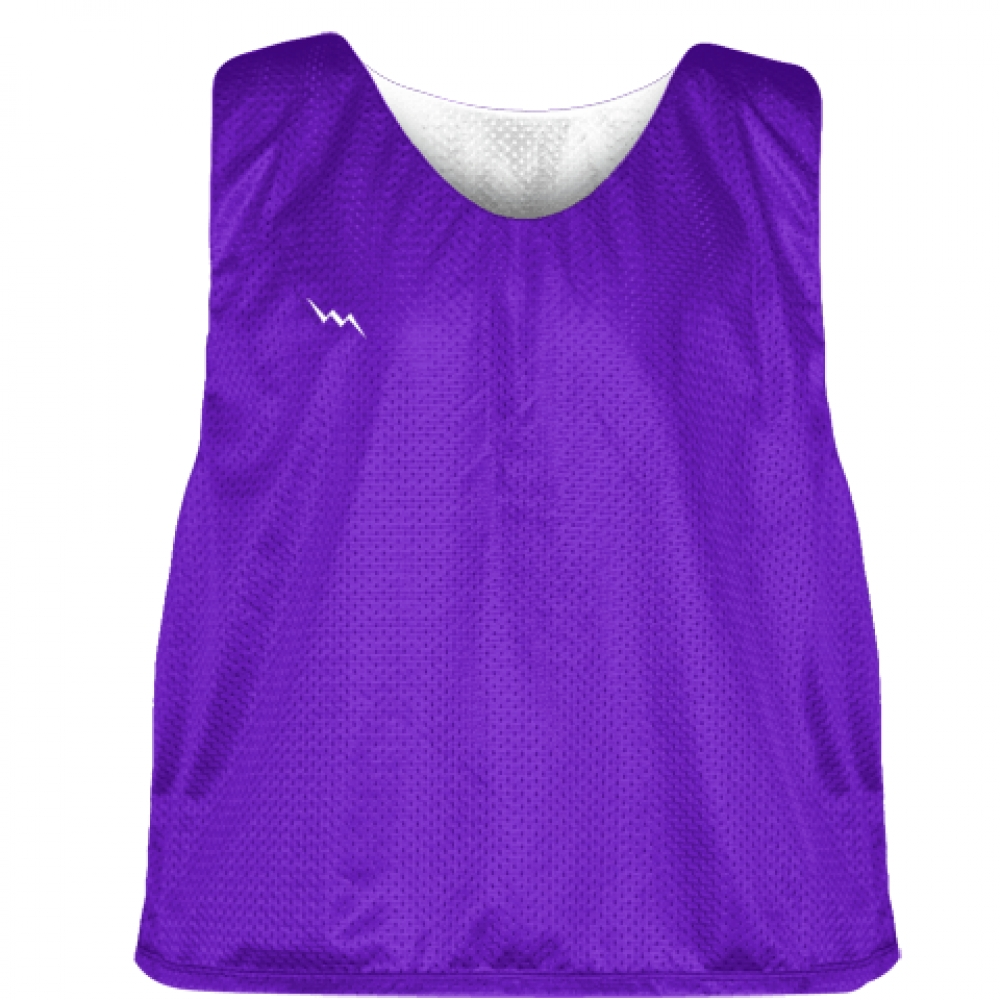 Purple+White+Reversible+Pinnies+-+Reversible+Lacrosse+Jerseys
