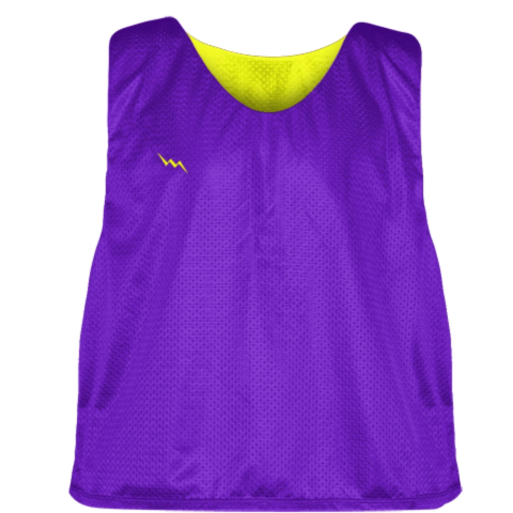 Purple+Yellow+Lacrosse+Pinnie+-+Reversible+Mesh+Pinnies