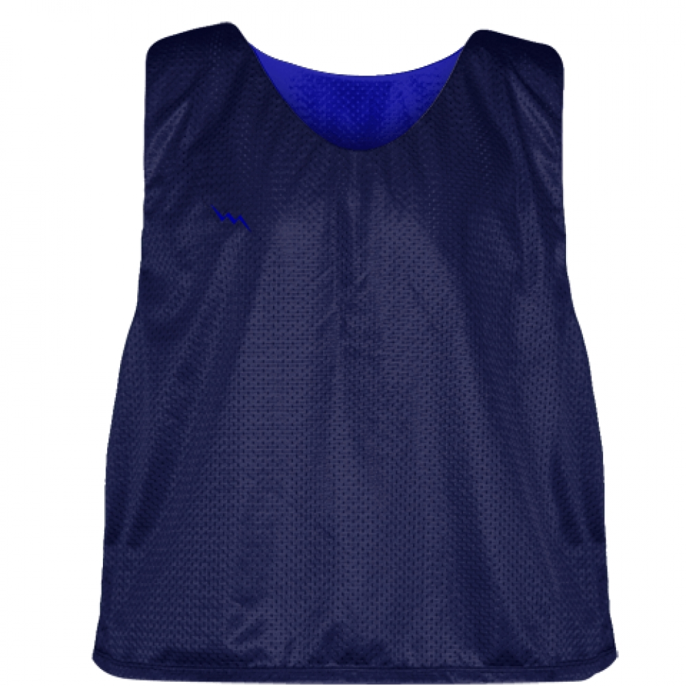 Navy+Royal+Blue+Lacrosse+Pinnie+-+Reversible+Mesh+Pinnies