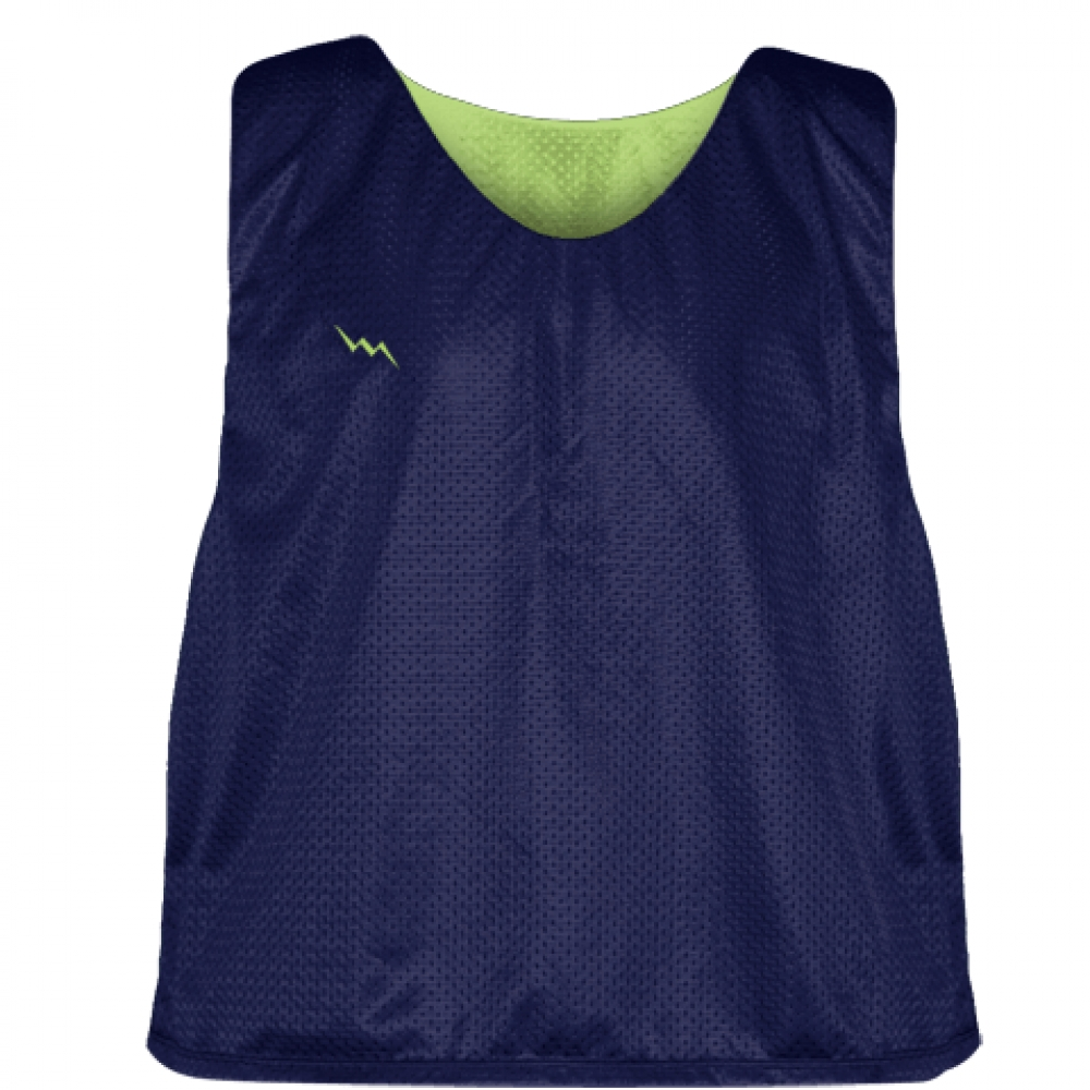 Navy+Lime+Green+Lacrosse+Pinnie+-+Reversible+Mesh+Pinnies