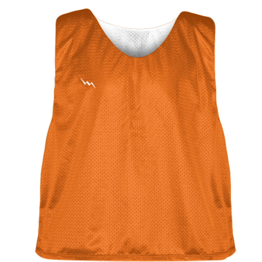 Orange+White+Mens+Boys+Lacrosse+Pinnie+-+Reversible+Mesh+Pinnies