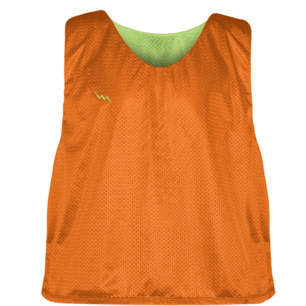 Orange+Lime+Green+Mens+Boys+Lacrosse+Pinnie+-+Reversible+Mesh+Pinnies