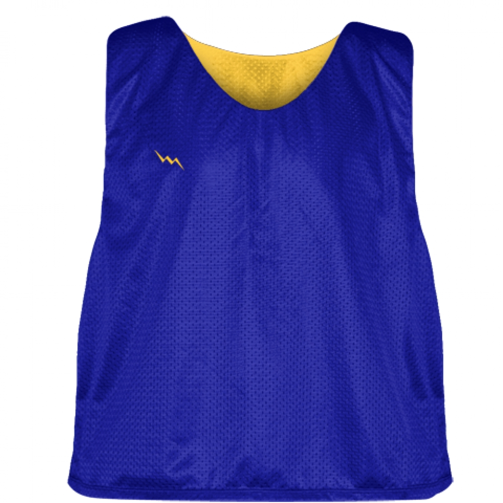 Royal+Blue+Athletic+Gold+Mesh+Lacrosse+Pinnies+-+Reversible+Mesh+Jersey