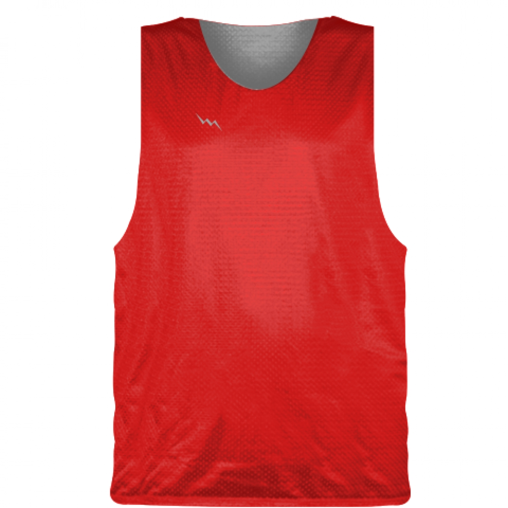 Red+Silver+Basketball+Pinnie+-+Basketball+Practice+Jerseys