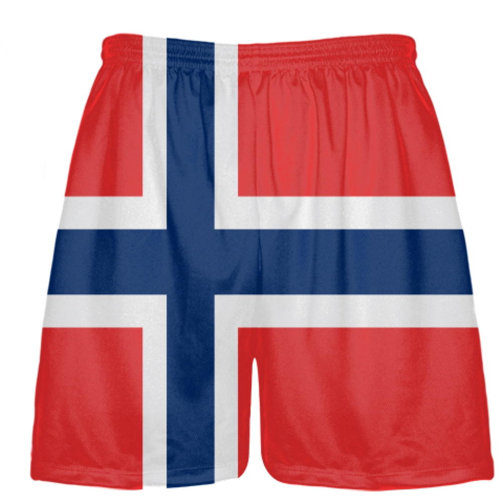 Norway+Flag+Shorts+-+Custom+Athletic+Shorts