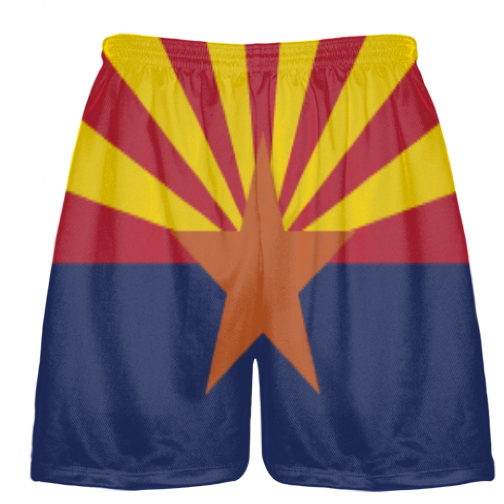 Arizona+Flag+Shorts+-+Sublimated+Lacrosse+Short
