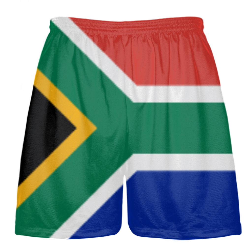 South+Africa+Flag+Shorts+-+Custom+Sports+Shorts