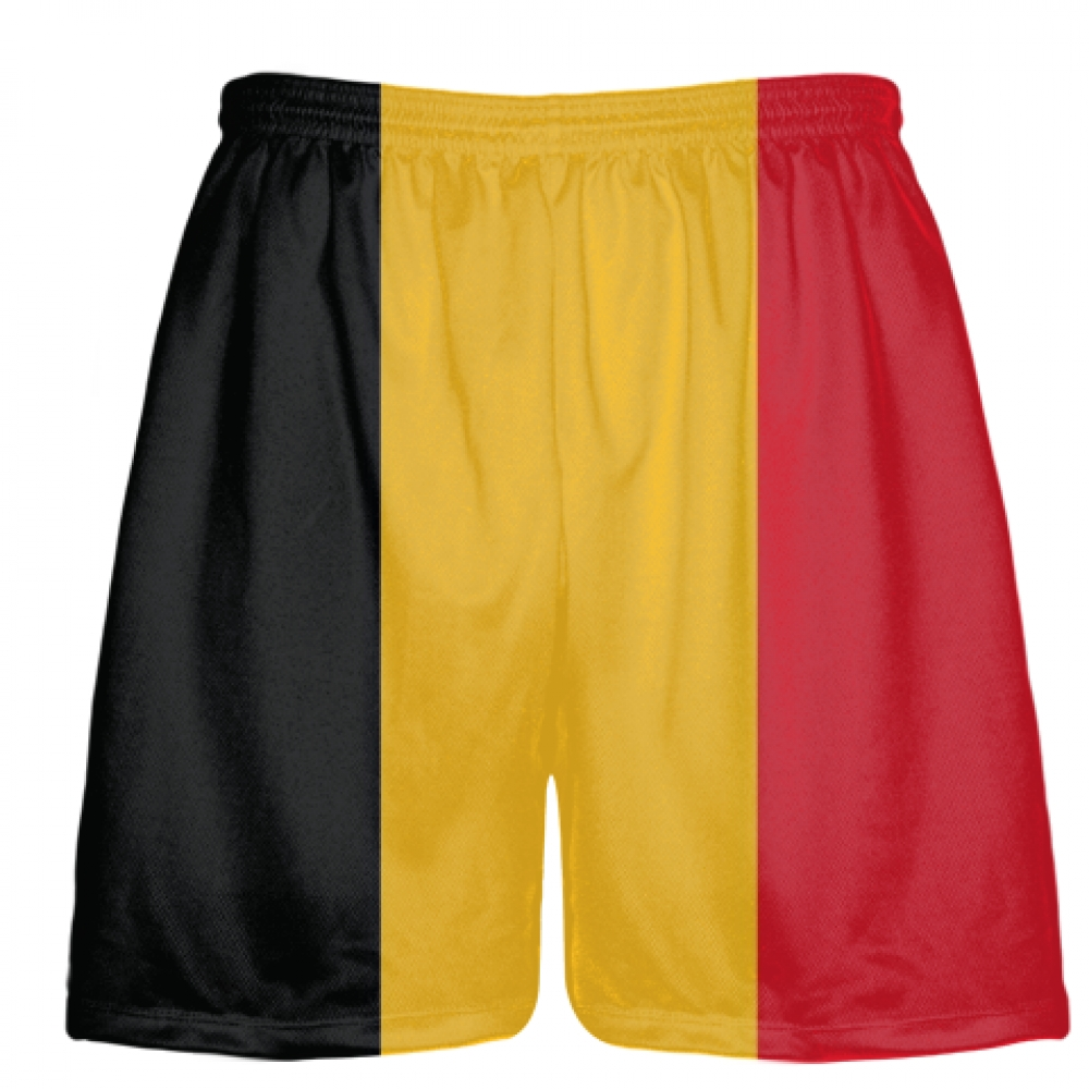 Belgium+Flag+Shorts+-+Custom+Flag+Shorts