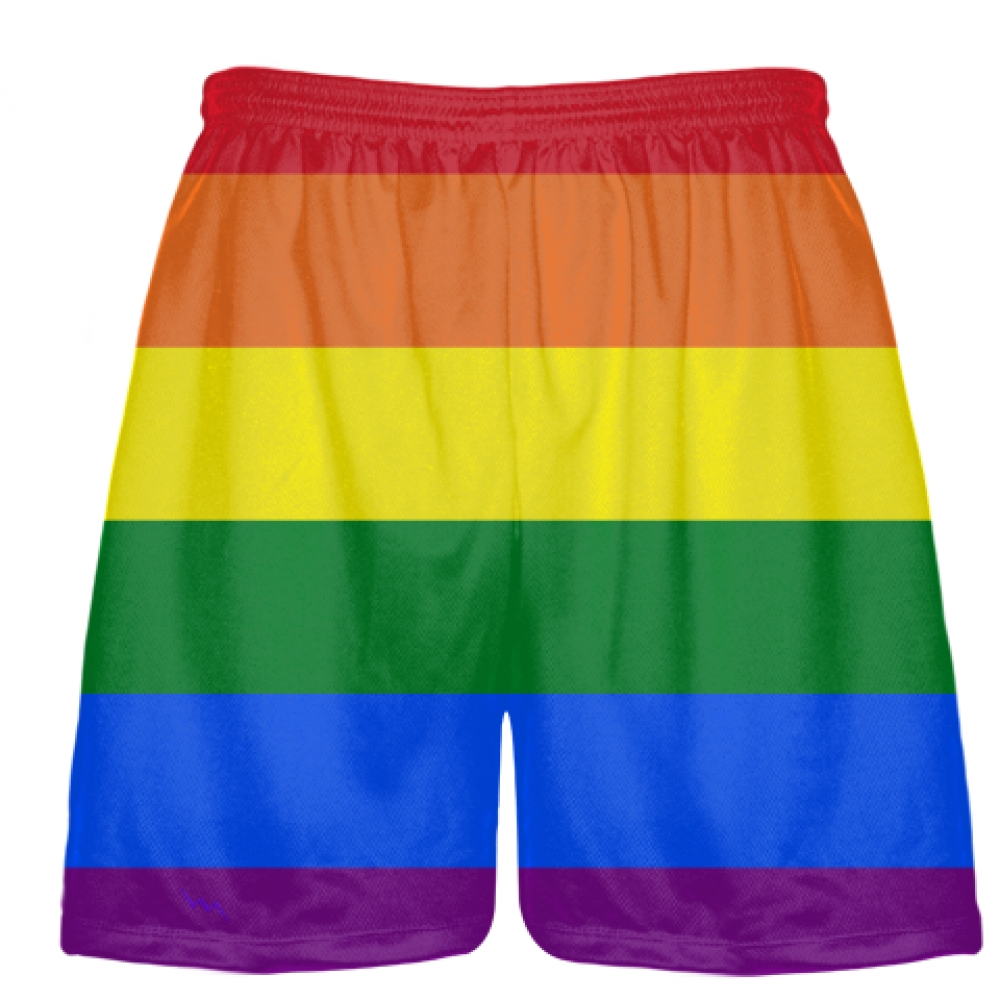 Rainbow+Flag+Shorts+-+LGBT+Shorts