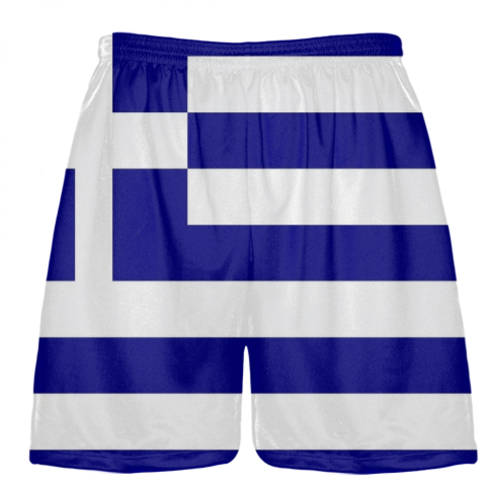 Greek+Flag+Shorts+-+Sublimated+Lacrosse+Shorts