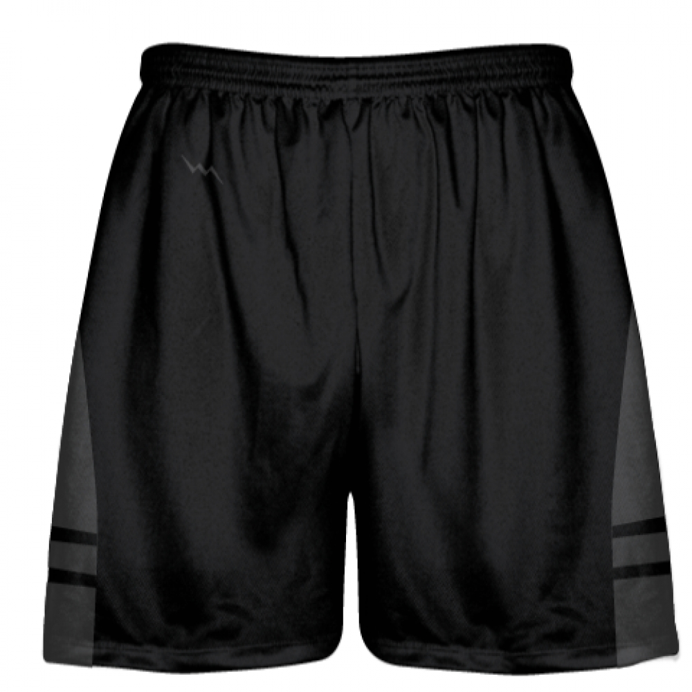 Black+Charcoal+Gray+Youth+Adult+Lacrosse+Shorts