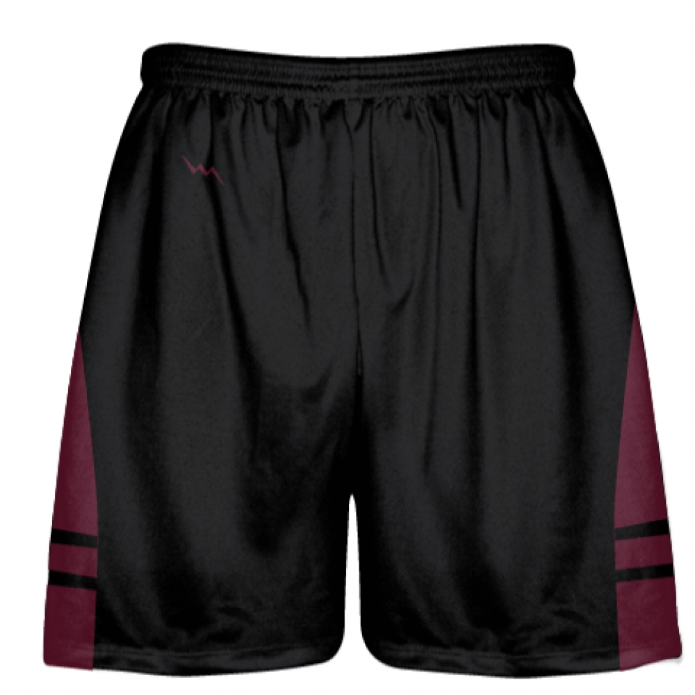Black+Maroon+Youth+Adult+Lacrosse+Shorts