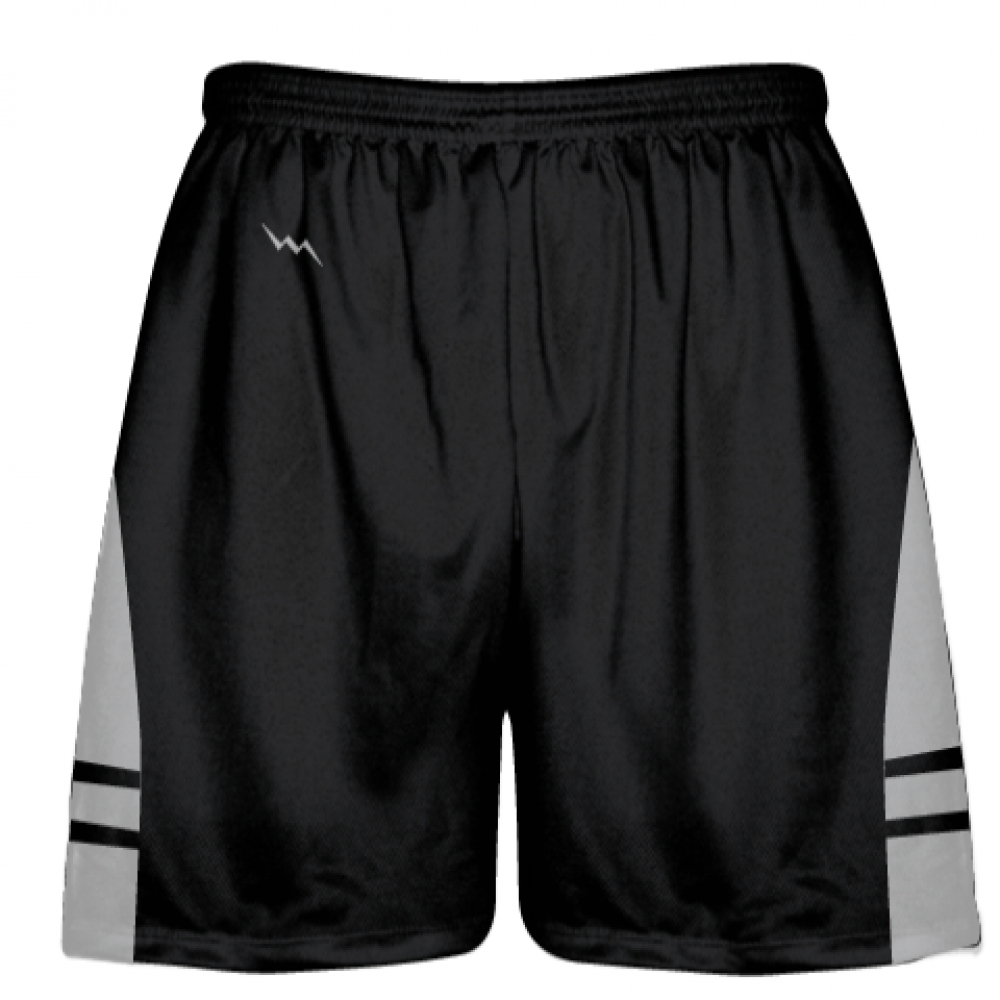 Black+Silver+OG+Lacrosse+Shorts+-+Boys+Mens+Shorts