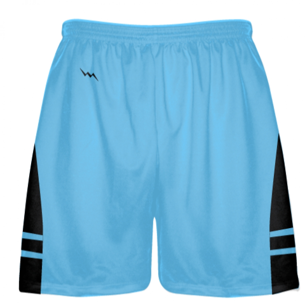 Powder+Blue+Black+Lacrosse+Shorts+-+Mens+Boy+Lacrosse+Shorts