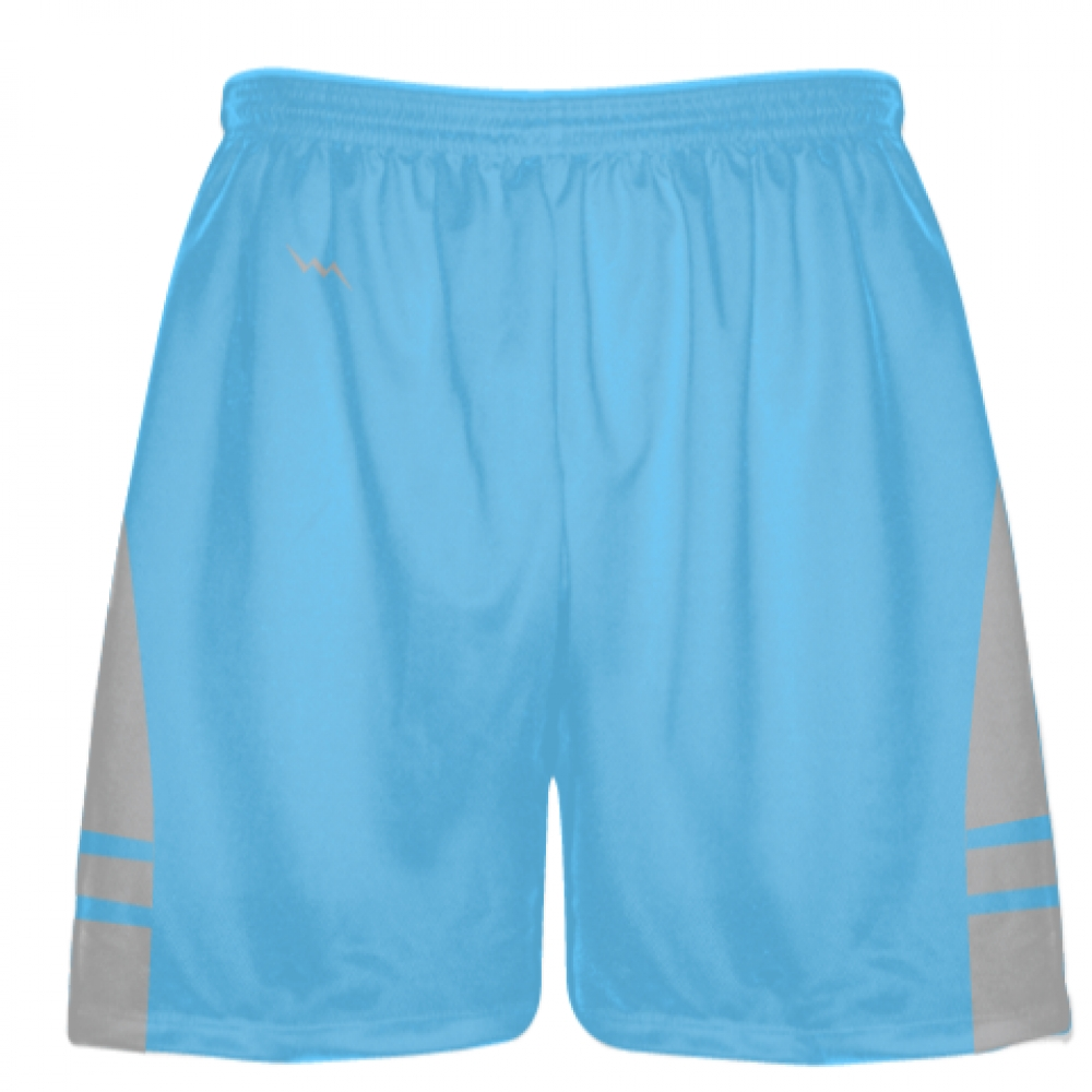 Powder+Blue+Silver+Boys+Lacrosse+Shorts+-+Mens+Lax+Shorts