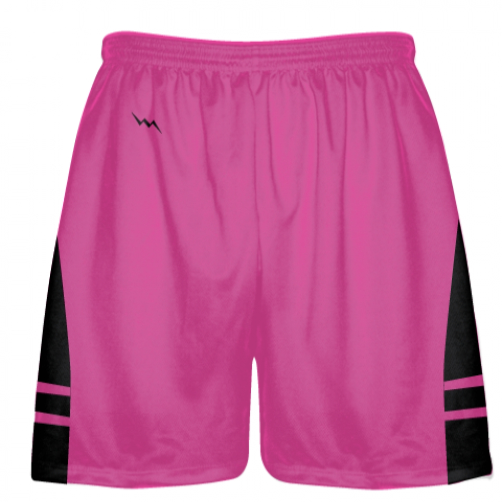 Hot+Pink+Black+Lax+Shorts+-+Boys+Mens+Lacrosse+Shorts