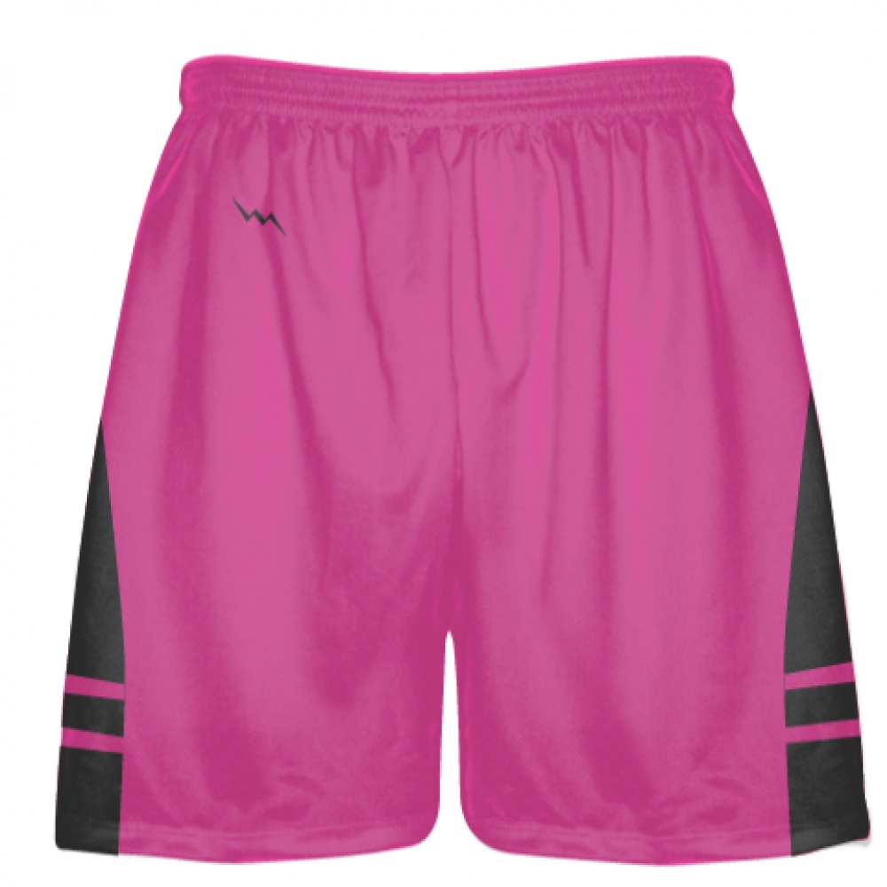 Hot+Pink+Charcoal+Lax+Shorts+-+Boys+Mens+Lacrosse+Shorts