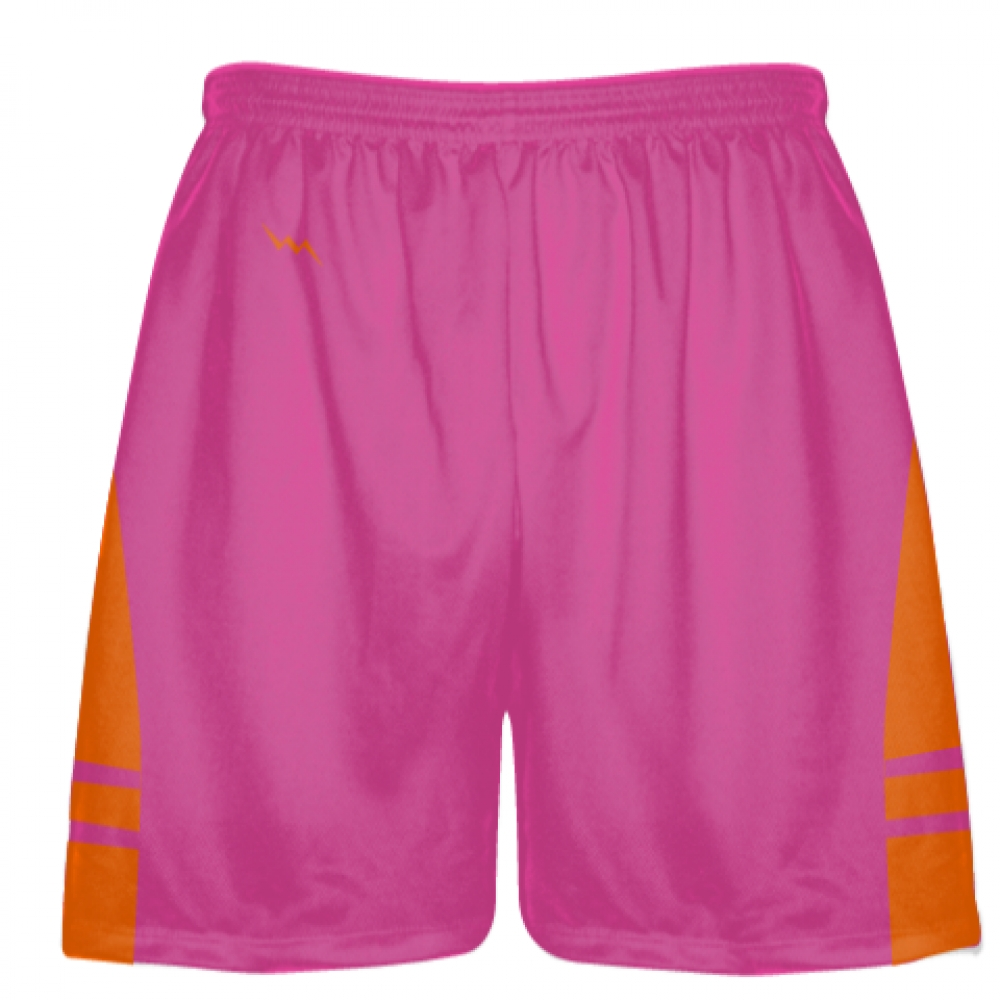 Hot+Pink+Orange+Athletic+Shorts+-+Boys+Mens+Lacrosse+Shorts
