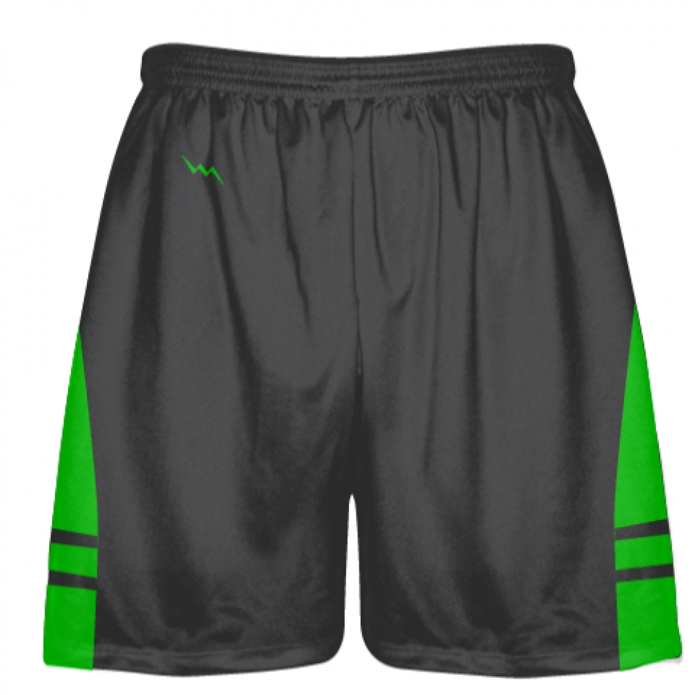Charcoal+Gray+Green+Lacrosse+Shorts+-+Adult+Lax+Shorts