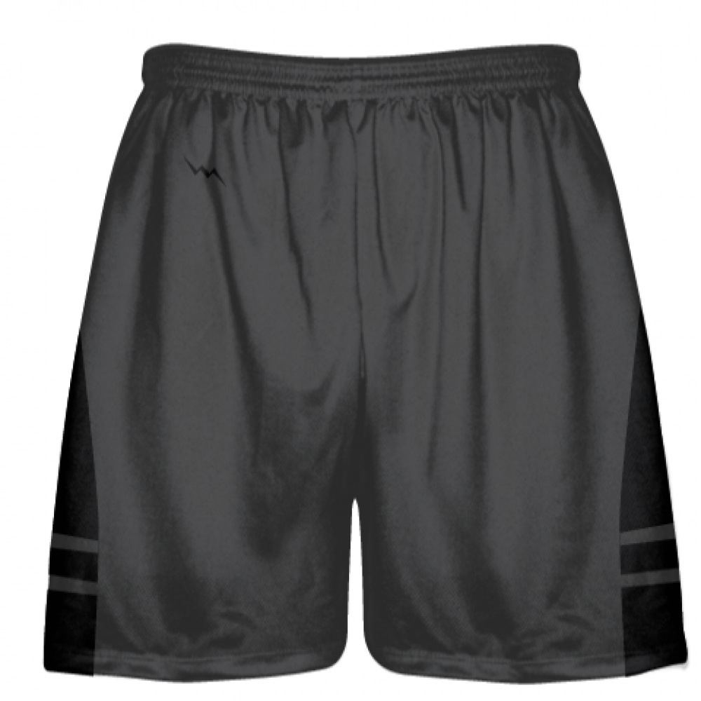 Charcoal+Gray+Black+Lacrosse+Shorts+-+Adult+Lax+Shorts