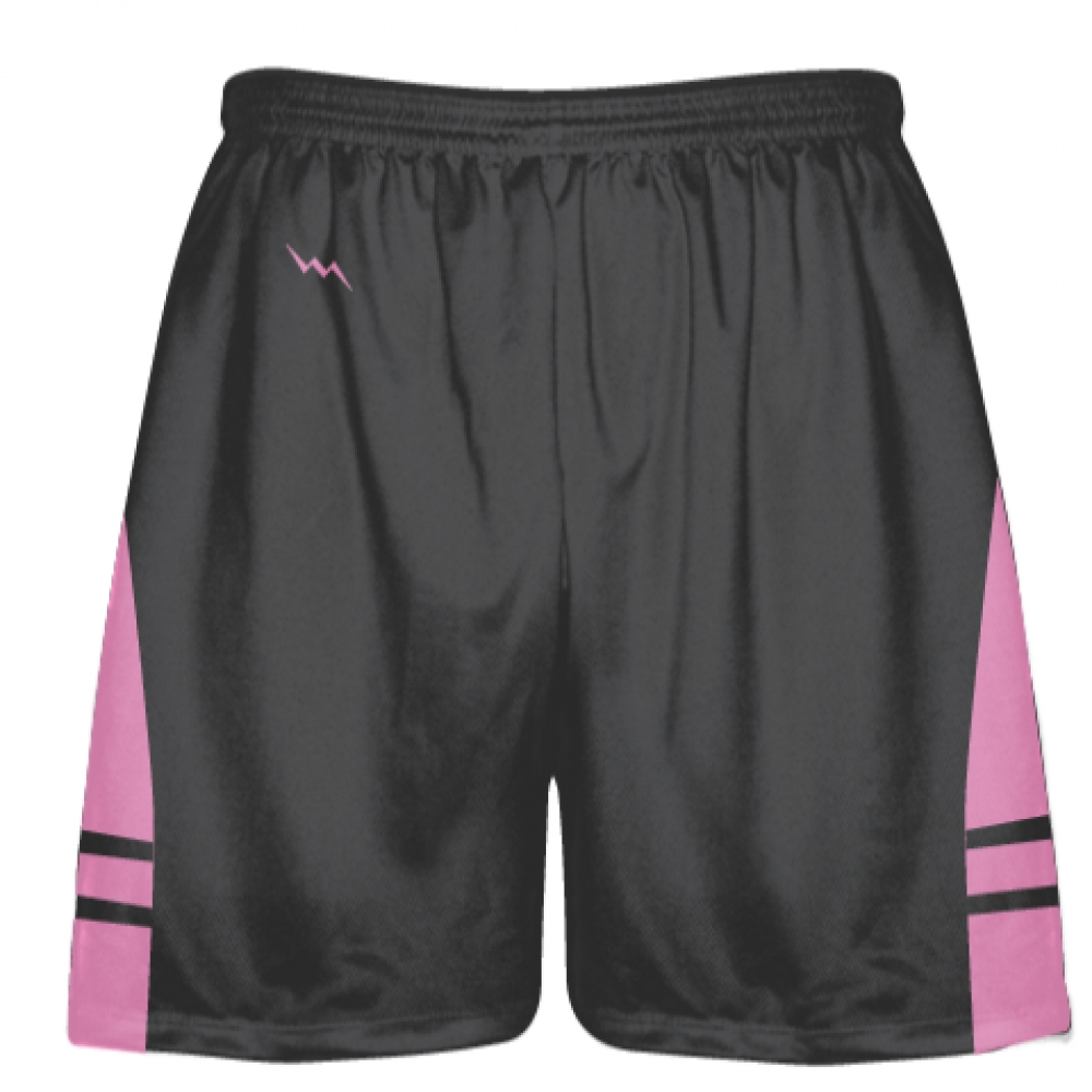 Charcoal+Gray+Pink+Lacrosse+Shorts+-+Dye+Sublimation+Short