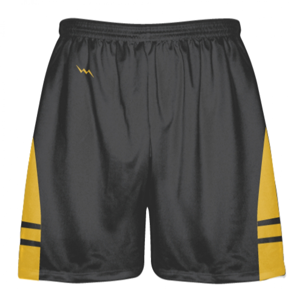 Charcoal+Gray+Athletic+Gold+Lacrosse+Shorts+-+Dye+Sublimation+Short