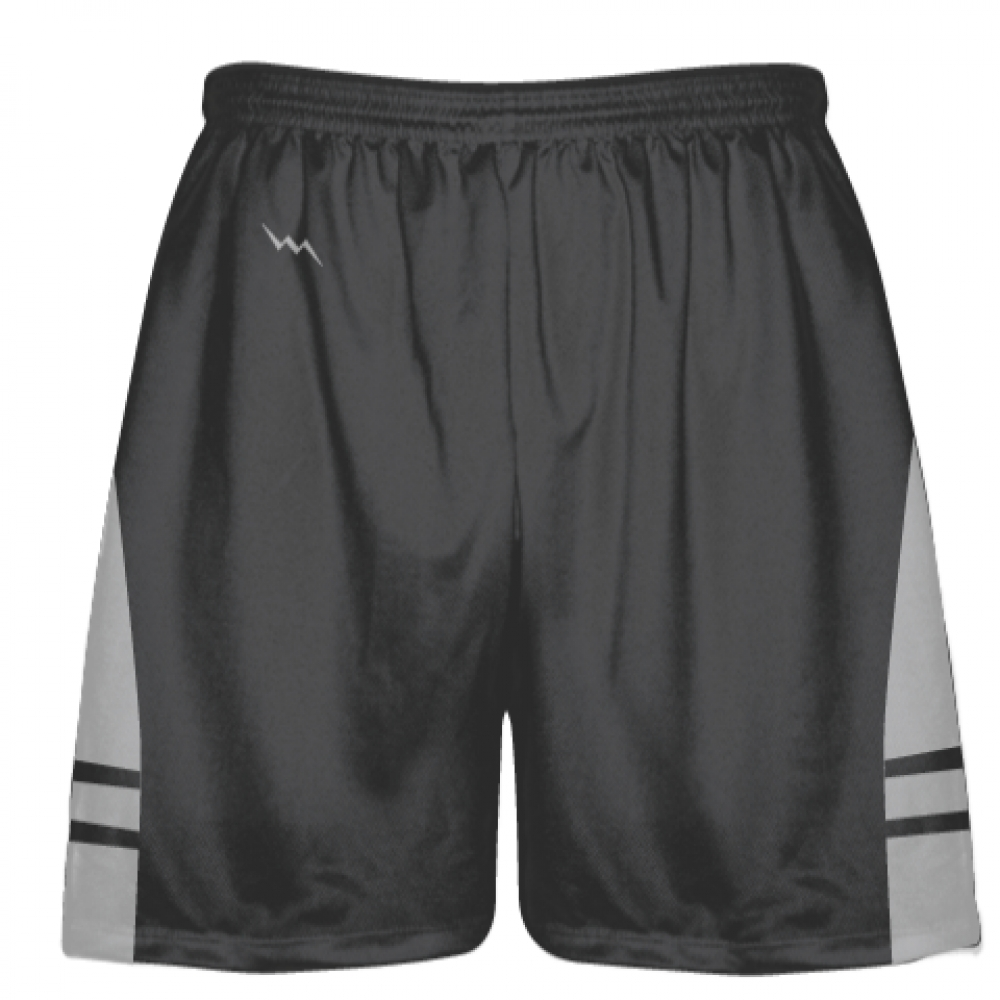 Charcoal+Gray+Silver+Lacrosse+Shorts+-+Dye+Sublimation+Short