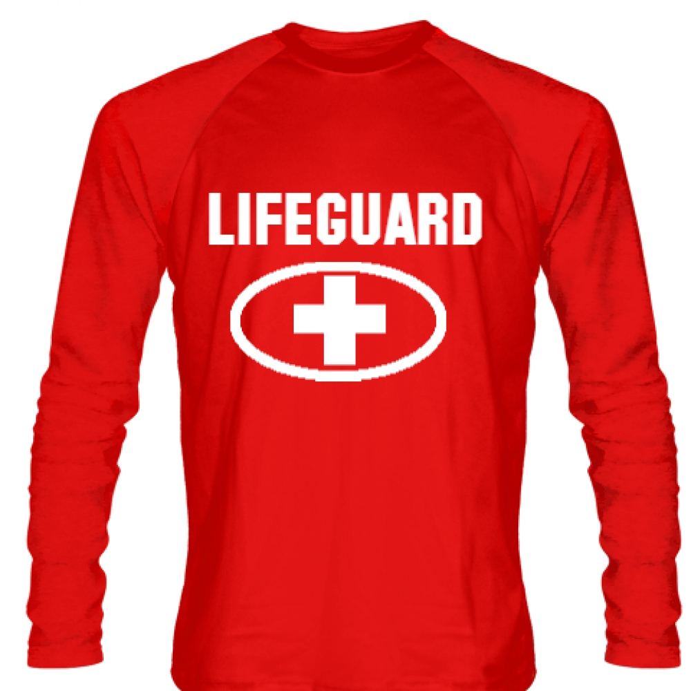 Long+Sleeve+Lifeguard+Shirt+Style+3+-+Red+Long+Sleeve+Guard