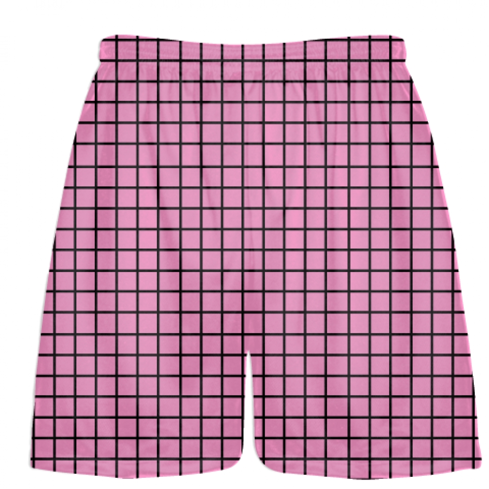 Grid+Pink+Lacrosse+Shorts+-+Pink+Black+Lax+Shorts+-+Youth+Lacrosse+Shorts