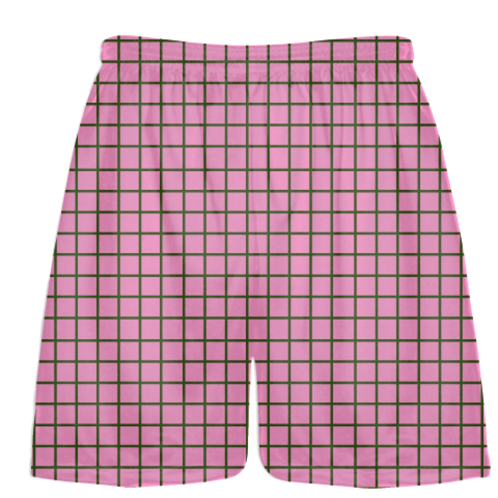 Grid+Pink+Forest+Green+Lacrosse+Shorts+-+Pink+Lax+Shorts+-+Youth+Lacrosse+Shorts