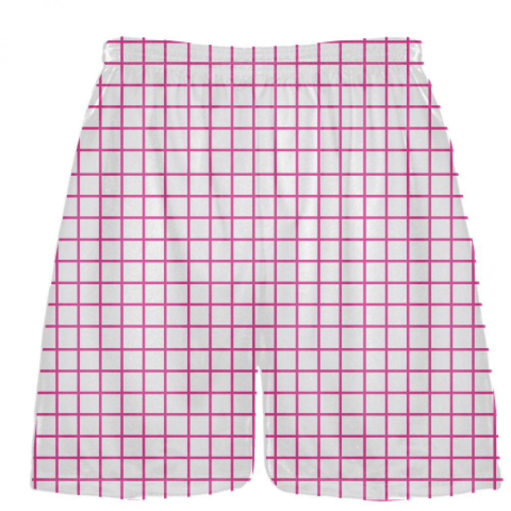 Grid+White+Hot+Pink+Lacrosse+Shorts+-+Pink+Lax+Shorts+-+Youth+Lacrosse+Shorts