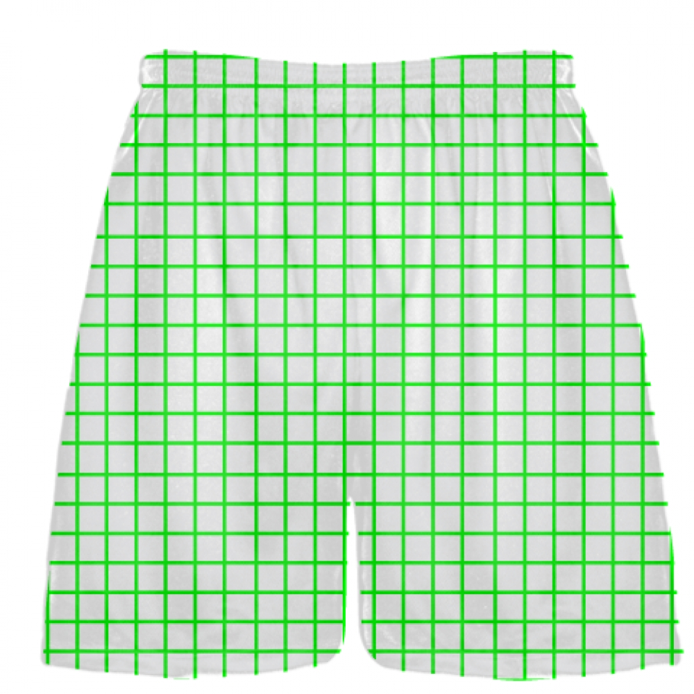 Grid+White+Neon+Lacrosse+Shorts+-+Pink+Lax+Shorts+-+Youth+Lacrosse+Shorts