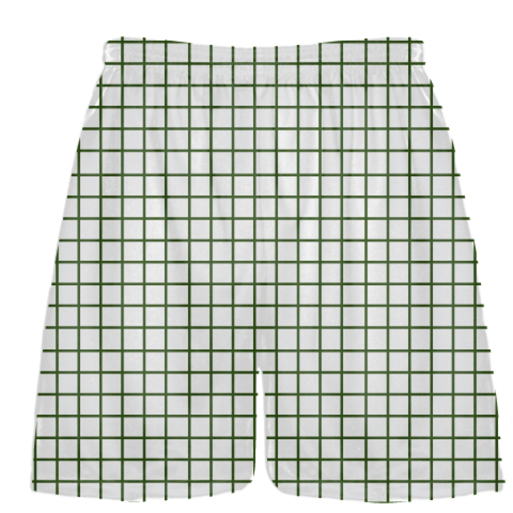 Grid+White+Forest+Green+Lacrosse+Shorts+-+Pink+Lax+Shorts+-+Youth+Lacrosse+Shorts