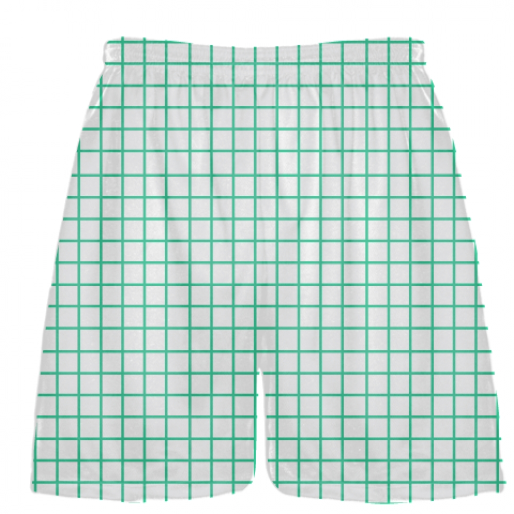 Grid+White+Teal+Lacrosse+Shorts+-+Pink+Lax+Shorts+-+Youth+Lacrosse+Shorts