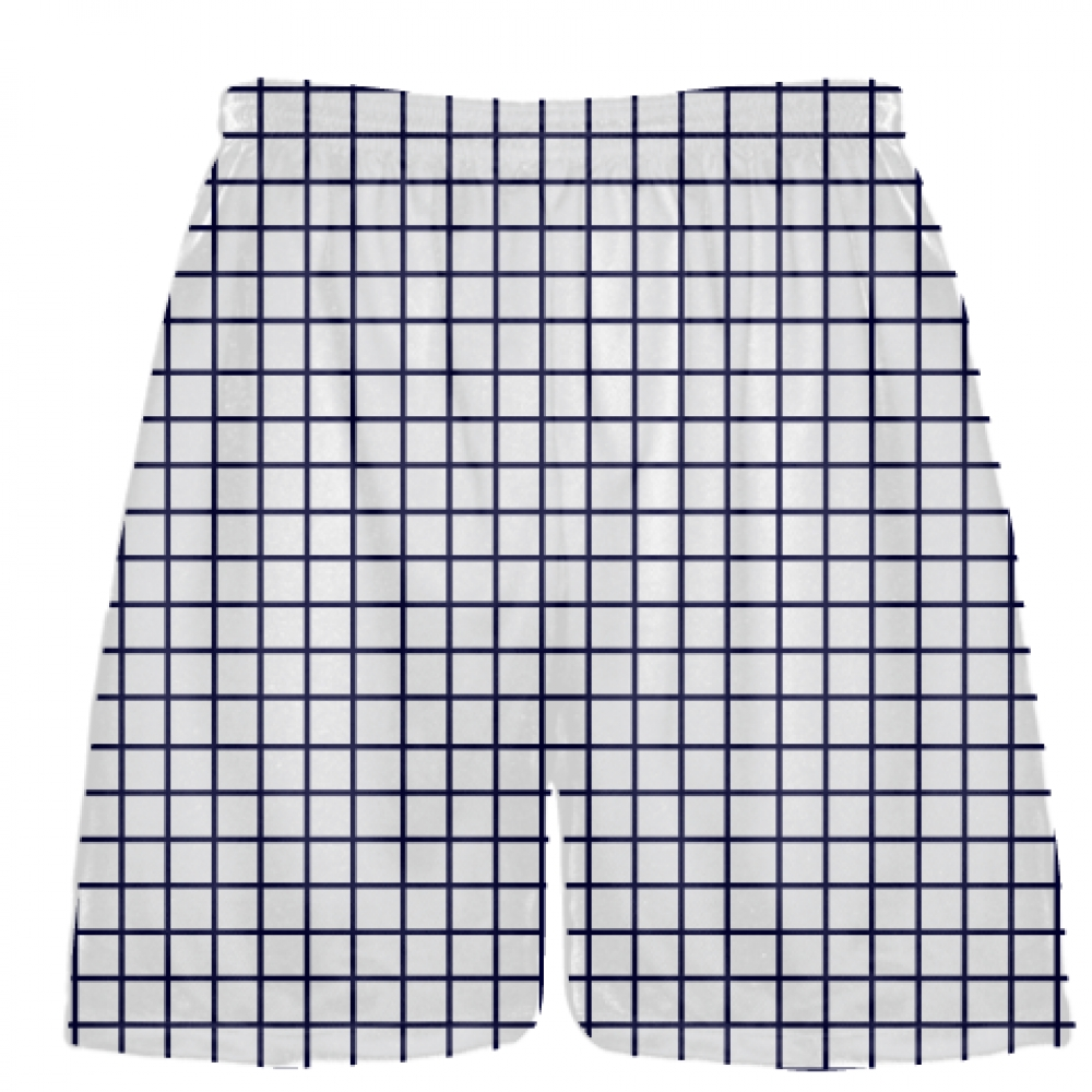 Grid+White+Navy+Blue+Lacrosse+Shorts+-+Pink+Lax+Shorts+-+Youth+Lacrosse+Shorts