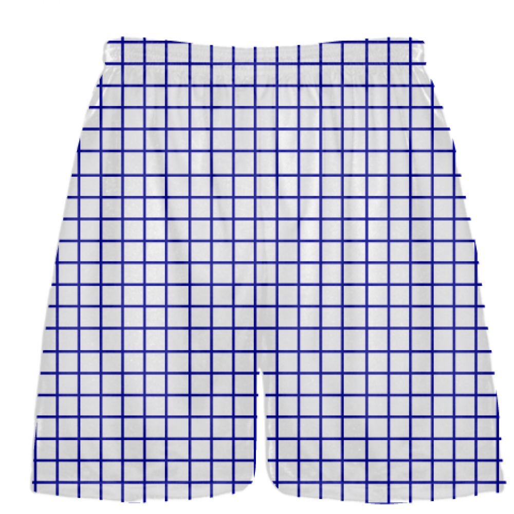 Grid+White+Royal+Blue+Lacrosse+Shorts+-+Pink+Lax+Shorts+-+Youth+Lacrosse+Shorts