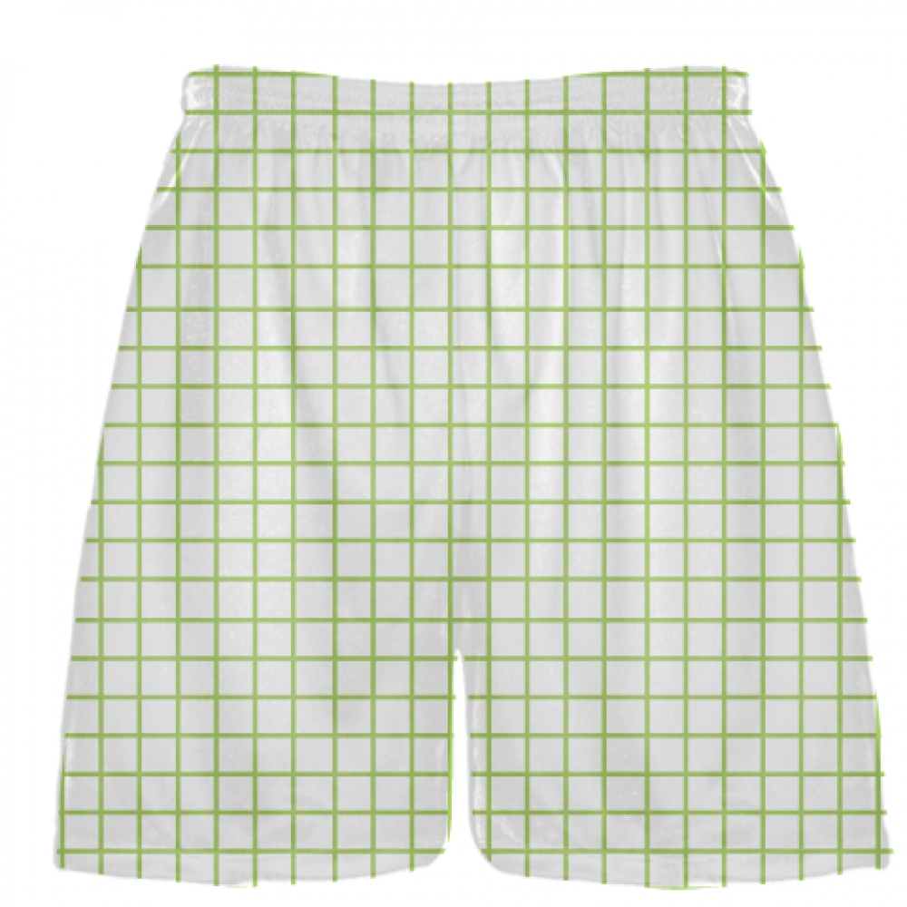 Grid+White+Lime+Green+Lacrosse+Shorts+-+Pink+Lax+Shorts+-+Youth+Lacrosse+Shorts