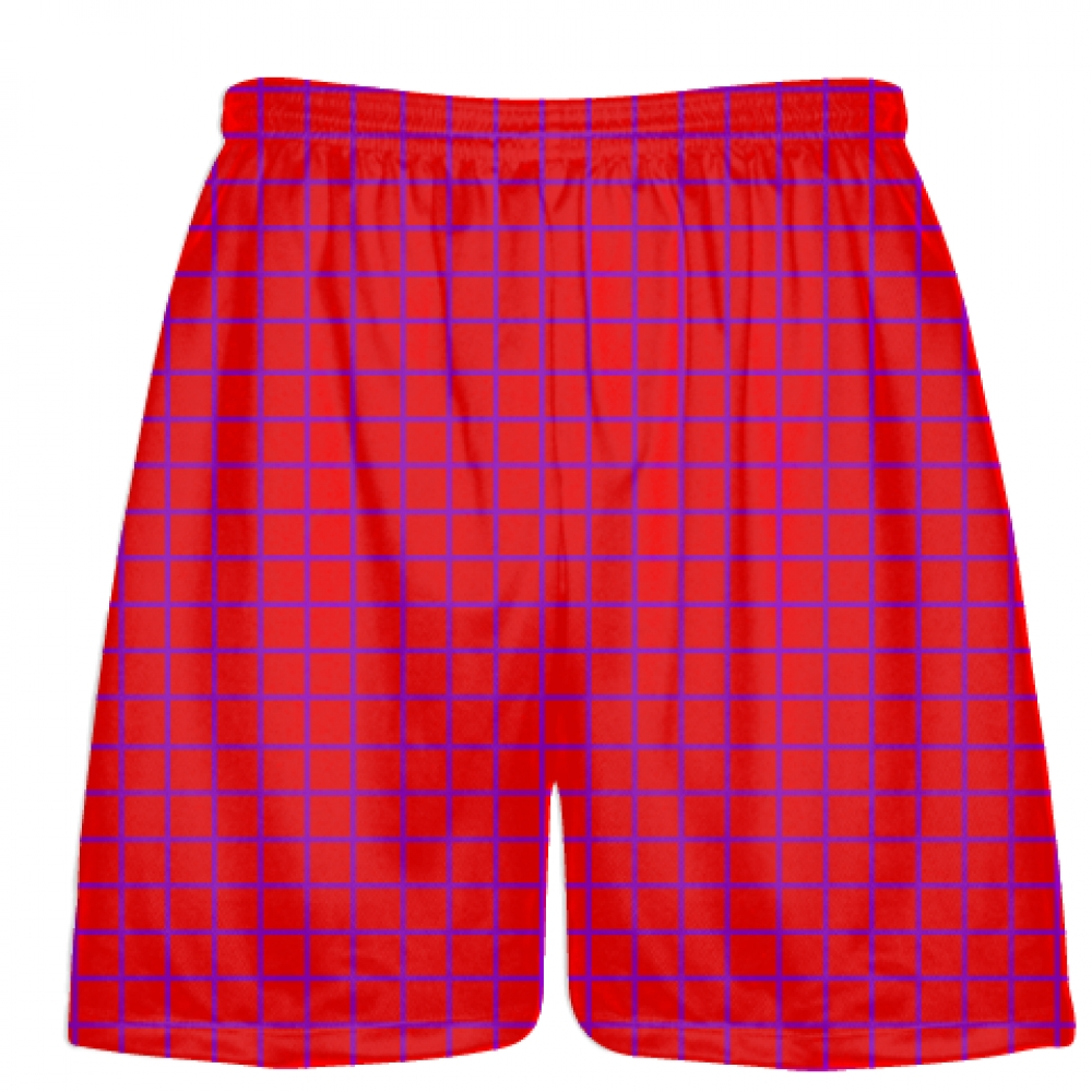 Grid+Red+Purple+Lacrosse+Shorts+-+Pink+Lax+Shorts+-+Youth+Lacrosse+Shorts