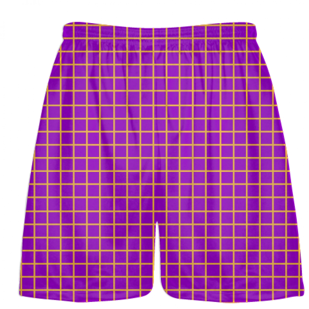 Grid+Purple+Athletic+Gold+Lacrosse+Shorts+-+Pink+Lax+Shorts+-+Youth+Lacrosse+Shorts