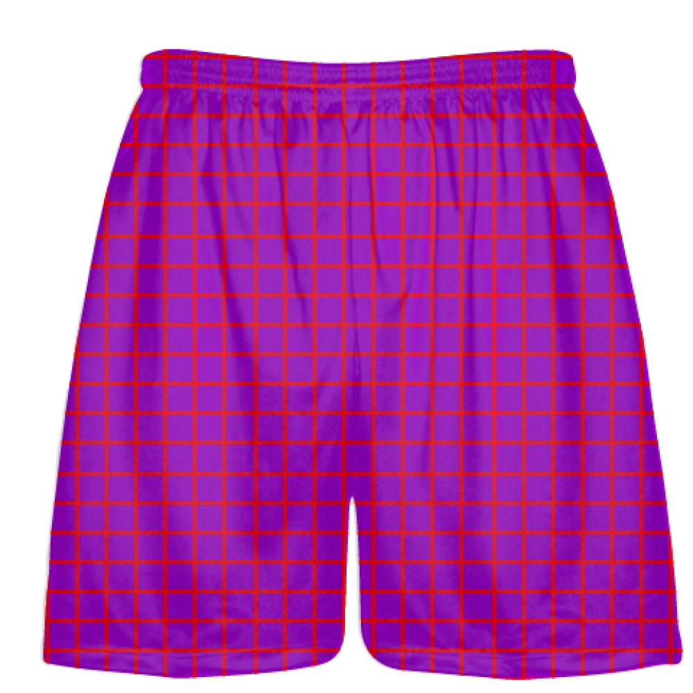 Grid+Purple+Red+Lacrosse+Shorts+-+Pink+Lax+Shorts+-+Youth+Lacrosse+Shorts